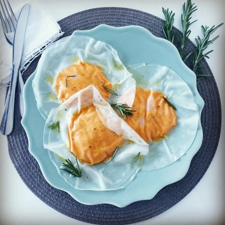 Jumbo pumpkin raviolis - recipe in EN below