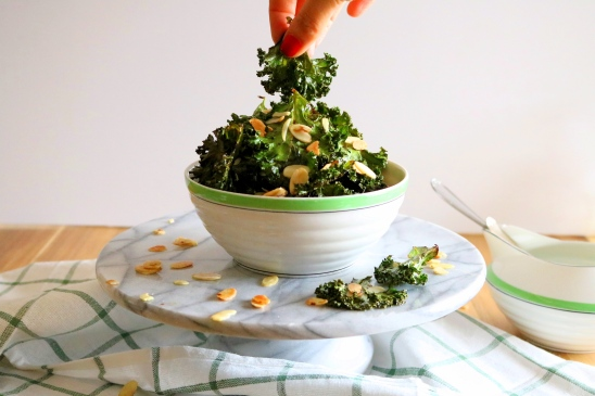 Chips Kale e amêndoas