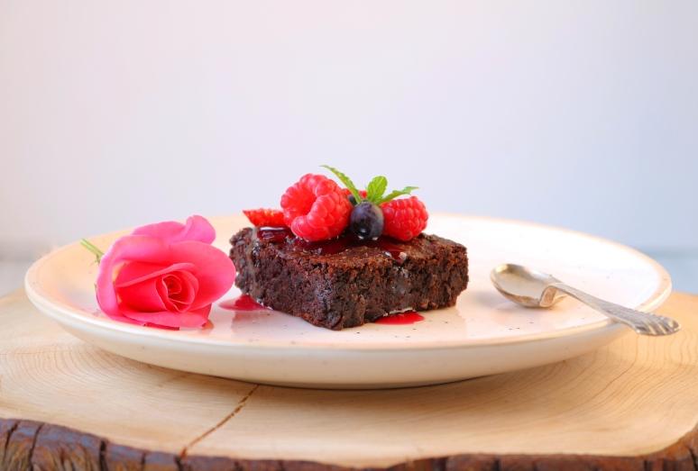 Brownie Azuki - frutos silvestres