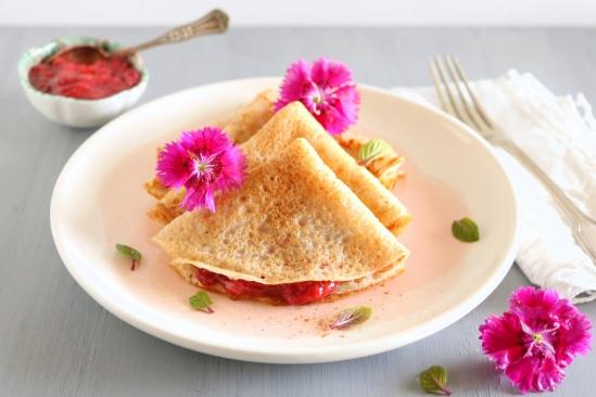 Crepes sem glúten - morango