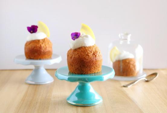 Muffins de limão e coco