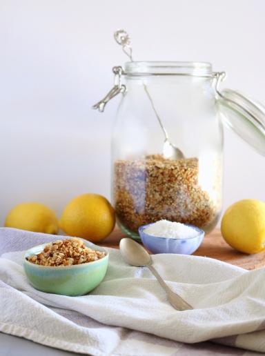 Granola de limão e coco